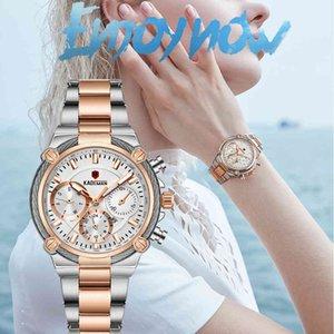 Kademan Mulheres Luxo Relógios Clássico Design Aço Strap Data Quartz Senhoras Relógio Feminino relógio de pulso Relógio Relogio Feminino 201114