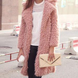 Осень зима из искусственного шубы Женщины Теплый плюшевый медвежонок Женская куртка женский пиджак плюшевые пальто длинные женские куртки