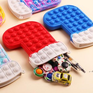 New Christmas Stocking Silicone Push Bubble Toy Kids Sensory Stress Reliever Children Christmas Toys Fidget Toys Gifts RRF11070