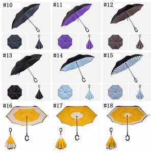 Reverse umbrella straight male and female sunny umbrellaS can stand long handle business car anti-umbrella sea ship BWB5887