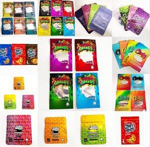 Vuoto Dank Gummies Mylar Bag Edibles Retail Zipper Block Imballaggio Worms 500mg Bears cubi gommy per fiore sfiiajfaf
