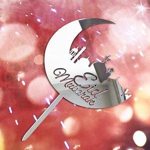 20pc Eid Mubarak Cake Toppers Flags Glitter Kids Happy Birthday Wedding Bride Party Cupcake Topper Muslim Eid Baking DIY 360 R2