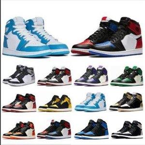 Fashion1 Top Quality OG Compred Toe Chicago Banned Game Royal Basketball Shoes Мужчины 1s Top 3 Разрушенные Backboard Shadow Многоцветные кроссовки