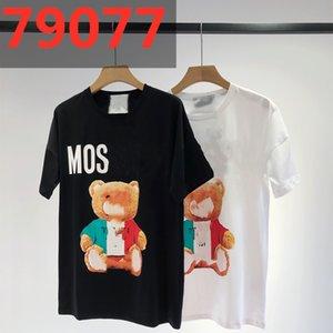 Lindo Little Bear Imprimir Camiseta de manga corta Diseñador de lujo A principios de la primavera 20ss NUEVO Reducción de estilo extranjero de ocio Cuello redondo para hombres y Wome