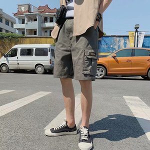 Summer thin shorts youth loose casual sports tooling five point pants trend multi pocket mens trousers