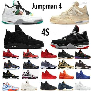 Mens Women Jumpman 4s Basketball Shoes 4 White Cement Oreo Black Cat Fire Red Bred Sail Royalty Travis Taupe Haze Neon What The Cool Grey Sports Sneakers Trainers