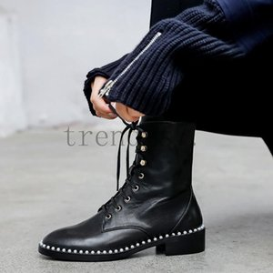 Latest Women designer boots Martin Desert cowskin Leather Boots real leather coarse size US4-9.5 Winter shoes