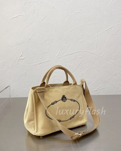 2021 Fashion Casual Canvas Bag Summer Large Capacity Durable Handbag High-quality Designers Luxurys Brands One-shoulder Messenger Bags 5 Color Wholesale