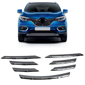 For Kadjar 2021 Stainless Steel Front Center Grille Molding Strips Cover Trim 7pcs Car Styling Other Interior Accessories