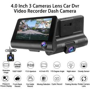 Cameras Lens Car DVR 4.0'' Dashcam Dual Dash Cam With Rearview Camera 1080P HD Video Recorder Auto Registrator DVRs