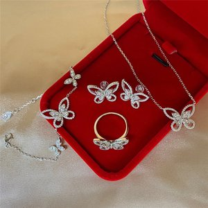 Woman Bowknot Necklace Sterling Silver Simulation Diamond Clavicle Chain Pendant Neck Jewelry
