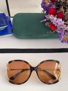 Óculos de sol das mulheres para mulheres 0594 homens óculos de sol estilo de moda protege os olhos uv400 lente qualidade superior com caso