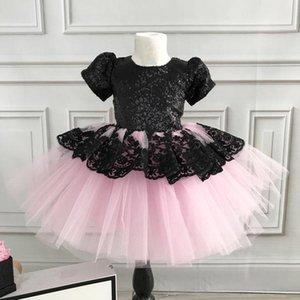 Girl's Dresses Brand Arrival Flower Girl Dress Princess Kids Lace Floral Birthday Wedding Pageant Party Tutu Sequined Gown