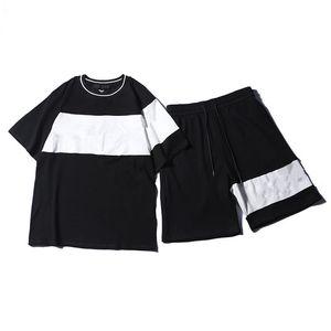 2021 Buchstaben druck t-shirt männer frauen schwarz sommer mode beiläufige straße t-shirt aus designer graffiti streifen weiß tshirt shorts