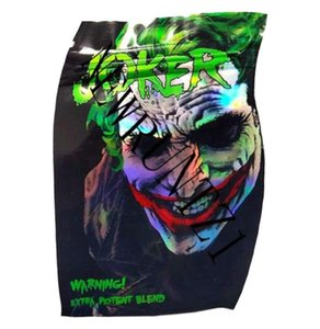 JOKER Mylar Bag resealable Retail Zipper Package empty edibles plastic dry herb packaging Fast Delivery