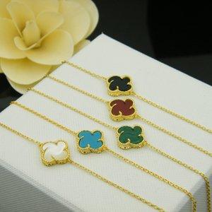 أزياء سوار أربع أوراق البرسيم مصمم مجوهرات حزب 18 كيلو الذهب والفضة مطلي النساء الحب أساور للهدايا
