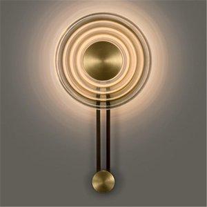 Wall Lamps Modern Glass Light Minimalist Design Clock Shape Lamp Decoration Background Bedside Reading