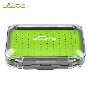 Booms Fishing Box Waterproof Double Side And Silicone Insert Tackle Boxes Transparent Plastic Lure Hook Case Accessories