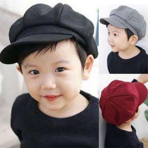 Girls beret hats Autumn Winter Children Beret Caps Fashion Kids Woolen Newsboy Fashion Accesories Artist Flat Cap A4161 321 K2