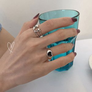 925 Sterling Silver Korean Heartshaped Love Peach Heart Us Dollar Smiling Face Ring Female Index Finger Tail Fashion Trend Sdr8