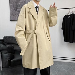 Men's Trench Coats INXYZ 2021 Fashion Retro Style Windbreaker Simple Trend Solid Color Loose Casual Women's Spring Autumn Tops