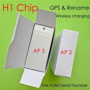 UPS DHL H1 earphones chip Gps Rename Air Ap pro Gen 2 3 Pods pop up window Bluetooth Headphones auto paring wireles Charging
