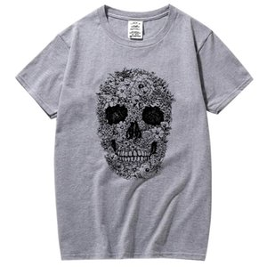 Xin Yi Hommes Fashion Casual Haute Qualité100% Coton T-shirt T-shirt Crâne T-shirt T-shirt Men Street Style Cool Confortable Tissu Hommes Tshirtsoccer Maillot Jerse
