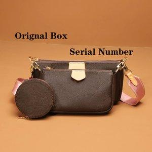 Louis Vuitton bag Mulheres bolsa bolsa caixa original de código de data bolsas bolsa bolsa carteira de embreagem ombro mensageiro sacos cruzados multi cocette