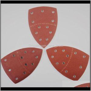 11 Holes Abrasive Tools Sandpaper Pads Sanding Sheets Assorted Sandpaper Waterproof Hand Tools 40 60 80 100 120 180 jllYYX best_shop1