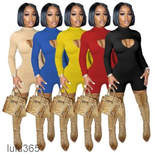 sexy long sleeve jumpsuits rompers elegant fashion solid bodycon jumpsuit pullover comfortable clubwear clothing lulu365