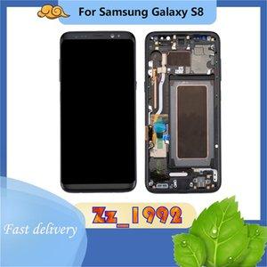 """Handy Touch Panels 5.8 """"Original für Samsung Galaxy S8 LCD G950A G950P G950T G050V Display-Bildschirmbaugruppe mit Frame-Ersatzreparatur"""