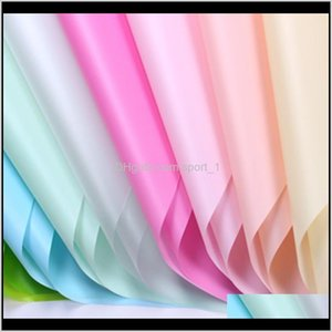 Flower Wrapping Paper Solid Color Waterproof Paper Bouquet Gift Packing Paper Environmentally Friendly Matte Solid Color Wj4Xd 0Hx3C