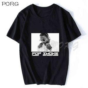 Старинные прохладные рэпер женские футболки негабаритные RIP POP Smoke повседневная o шея хип-хоп с коротким рукавом футболка с коротким рукавом стрит одежда мужчин футболка