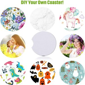 Sublimation Blanks Car Coaster DIY Car Cup Holder Coaster with Absorbent Neoprene Blank Drink Cup Mat Pad for Your Own Crafts 569 V2