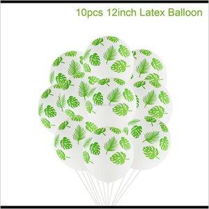 Qifu Latex Green Balloon Woodland Animal Palm Leaf Foil Ballons Safari Baloons Birthday Decor Kids Balon Babyshower Wmtspk Aam4 Other Vegjk
