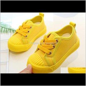 Малыш, родильный падение Доставка 2021 мальчиков Холст кроссовки для девочек Теннисные туфли на шнуровке Детская обувь малыш ярко-желтый повседневный ребенок Cripa
