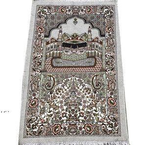 Islamic Muslim Prayer Mats Salat Musallah Prayers Rug Tapis Carpet Tapete Banheiro Islamic-Praying Mat 70*110cm SEAWAY DWF11015