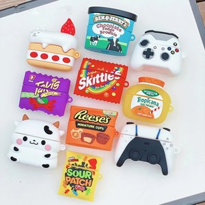 3D Cartoon Cake Drink Potato Chips Cow Silicone Case For Apple Airpods Cover For Earphone Air pods 1 2 Pro Case Wireless Charging Soft Cover