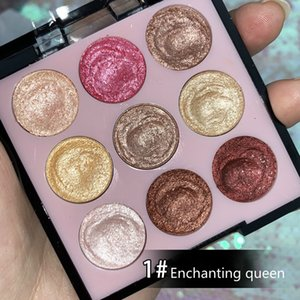 Eye Shadow Eyeshadow Compact Makeup Polarized Sequin Pearlescent Beginner CE Nine Palace Grid 1 Box Of 9 Colors