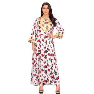 Этническая одежда Мусульманская девушка платье Kaftan Moroccan Dubai Турецкие Исламские длинные платья Африканские для женщин Вечерние платья Малайзия Абая