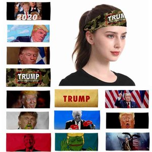 38style Headband 3D Printing Elastic Headwarp Keep America Great Funny Trump Sports Turban Milk Shreds Face Mask HHA1457 T1CC