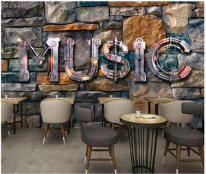 Wallpapers Custom Po Wallpaper For Walls 3d Mural Modern European And American Music Stone Wall Brick Bar KTV Background Papers
