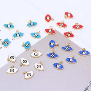 Charms Juya Handicraft Enamel Greek Turkish Blue White Red Evil Eye For Handmade Fashion Lucky Pendant Jewelry Making