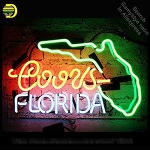 Florida Neon Sign Caste Neon Real Glass أنبوب الأنوار النيون الترفيه ويندوز المهنية علامة الايقن أعلن مع لوحة واضحة