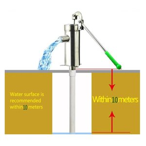 Lift 10M Stainless Steel 201 Home Manual Water Pump Durable Domestic Oil Well Hand Shake Suction Thickness 1.3mm