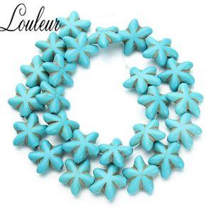 Natural Starfish BlueTurquoises Loose Beads Stones Beading For Jewelry Making DIY