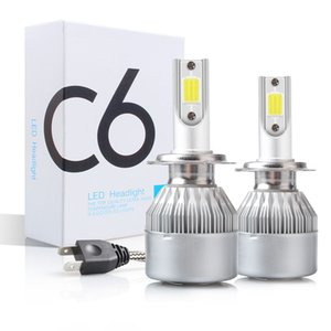 C6 H1 H3 LED المصباح المصباح H7 LED أضواء السيارة H4 880 H11 HB3 9005 HB4 9008 H13 6000K 36W 9-36V Auto Shandlamps Cob رقاقة السوبر سطوع
