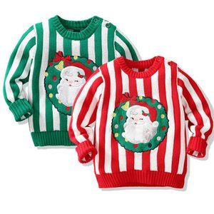 Pullover Christmas Baby Girls Boys Sweater Kids Pullovers Tops Cartoon Autumn Winter Clothes