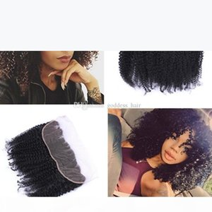 Mongolian Kinky Curly Lace Frontal Closure 13x4 Full Lace Frontal Closures Afro Kinky Curly Lace Frontals Free Parting For Black Woman