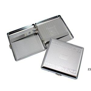Metal Cigarette Case Embossed Cigarettes Box Stainless Steel 95*87MM 20pcs Regular Boxes Tobacco Holder HWA7395